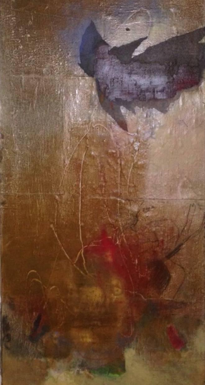 Olje/lerret  140 x 55 cm